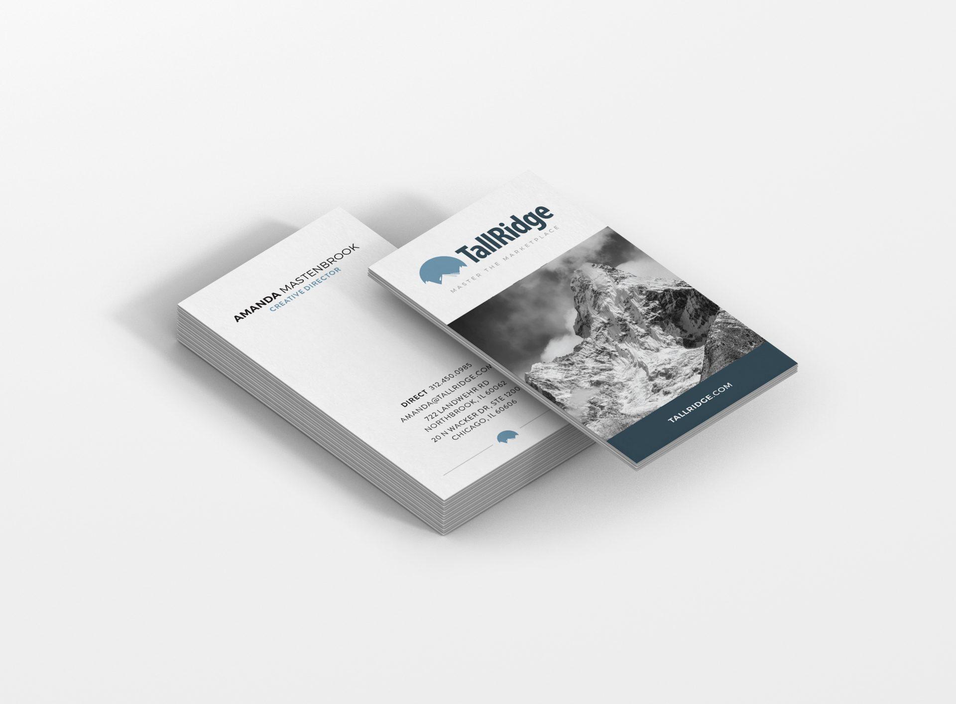 business card design for Tall Ridge