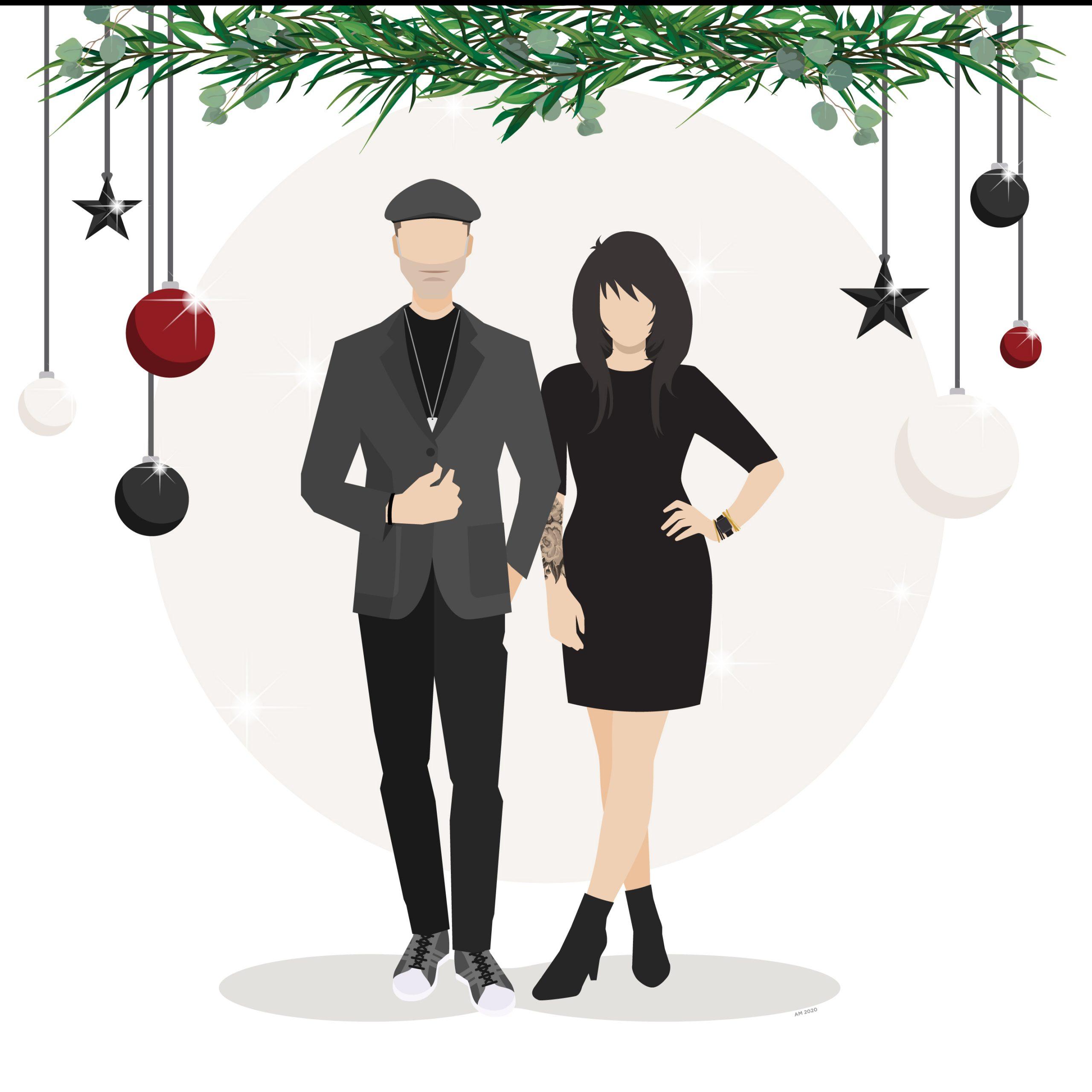 Happy Holidays from John + Amanda